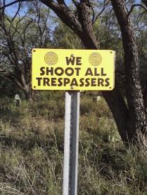 No Trespassers!