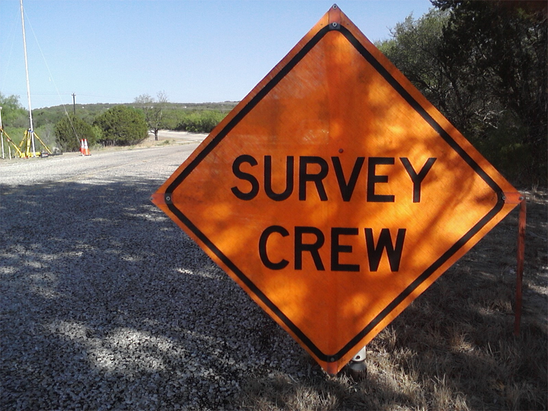 Survey Crew Safety Sign
